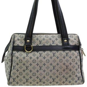 Louis Vuitton  Navy Grey Monogram Mini Lin Josephi